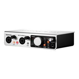 美派(MIDIPLUS) STUDIO 4 直播K歌专业录音声卡 电脑外置USB声卡 高清音频接口