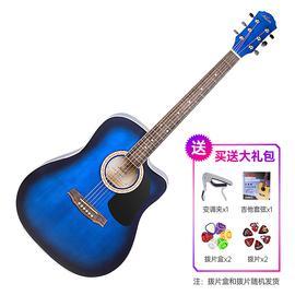 红棉(KAPOK) LD-18C 41寸民谣吉他 缺角