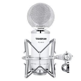 得胜(TAKSTAR) PC-K810 电容麦克风 直播K歌录音麦克风 (白色)