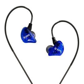 艾肯(iCON) SCAN 7入耳式主播k歌直播监听耳机 手机电脑通用3M长线耳机 (蓝色)