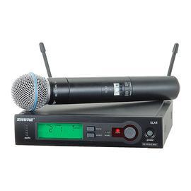 舒尔(SHURE) SLX24/BETA58A 手持单通道无线动圈话筒 KTV/舞台演出会议主持麦克风(一拖一)