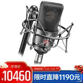 诺音曼(Neumann) TLM103 电容式录音麦克风 大振膜主播直播K歌话筒 小U87【德国进口】(黑色、带防震架)