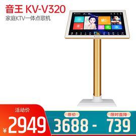 音王(InAndOn) KV-V320 家庭KTV一体点歌机  19寸落地式红外屏 白金色(3T)
