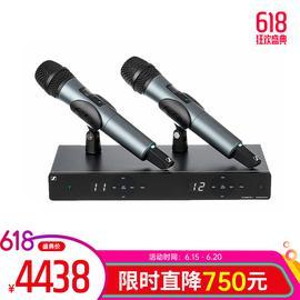 森海塞尔(Sennheiser) XSW1-835 DUAL 双通道无线麦克风 专业舞台演出动圈话筒(一拖二)