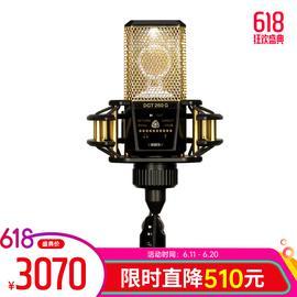 莱维特(LEWITT) DGT260 自带声卡直播K歌录音电容麦克风 (金色)