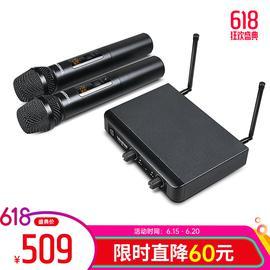 得胜(TAKSTAR) X3HH 手持式无线麦克风 KTV/直播K歌/演讲/培训/演出(一拖二)