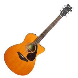 雅马哈(YAMAHA) FGX800CVN 41寸单板缺角电箱吉他(复古原木色)
