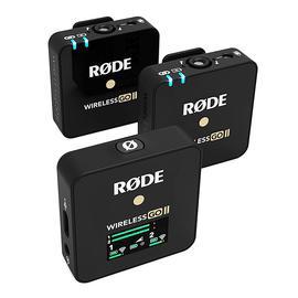 罗德(RODE) Wireless GO II 二代 一拖二领夹录音无线麦克风迷你小蜜蜂(黑色)
