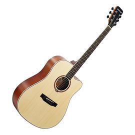 星臣(Starsun) DG220C-P 41寸原声初学入门木吉他 缺角民谣吉他(原木哑光色)