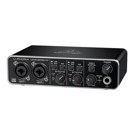 百灵达(BEHRINGER) UMC202HD  专业录音USB外置声卡 录音直播K歌音频接口