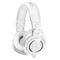 铁三角(Audio-technica) ATH-M50x专业头戴式监听耳机 (白色)