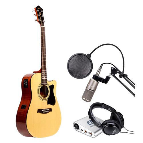 依班娜V72ECE电箱吉他搭配MAYA22声卡 吉他网K套装