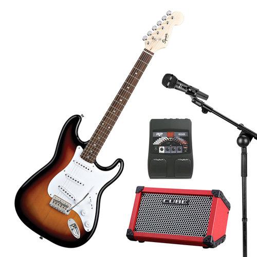 斯奎尔031-0001电吉他搭配罗兰CUBE-STREET便携音箱 吉他现场套装