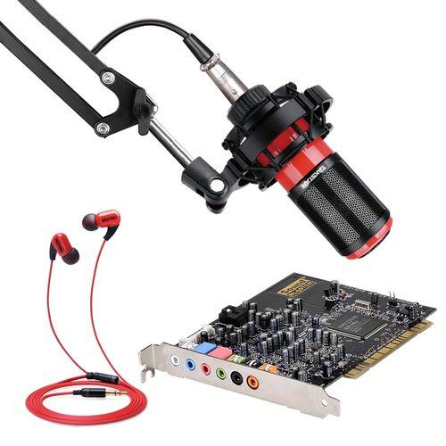 创新A4声卡搭配得胜K320麦克风  网K套装
