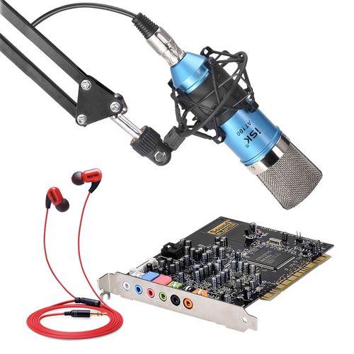 创新A4声卡搭配ISK AT100麦克风 网K套装