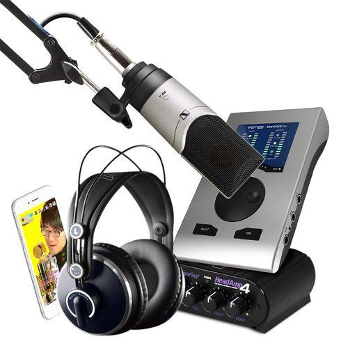 RMEBabyface Pro搭配森海塞尔MK4  手机直播网络K歌套装