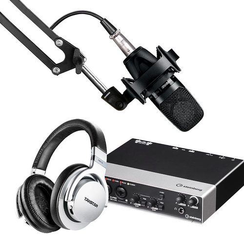 雅马哈UR242声卡搭配舒尔PGA27 麦克风 录音套装