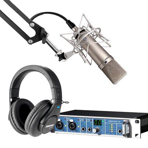 RME UC声卡搭配纽曼U87 Ai麦克风 网K套装