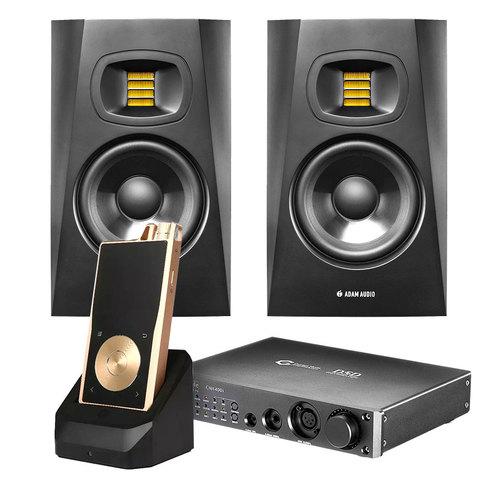 亚当T7V音箱搭配旷世CMA400i解码器   音乐欣赏套装