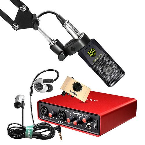 艾肯MOBILE·U VST声卡搭配莱维特LCT 240 PRO麦克风  电脑手机直播K歌声卡套装 抖音快手主播直播录音设备全套