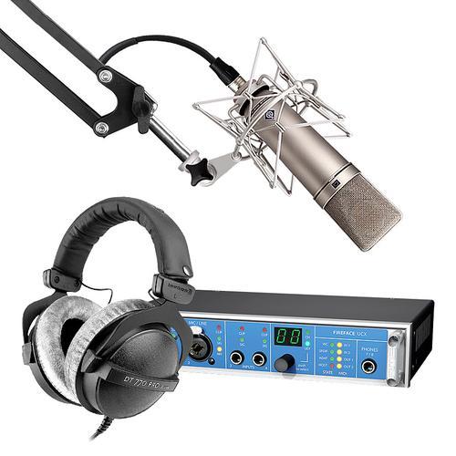 RME  Fireface  UCX声卡搭配纽曼U87 Ai麦克风 专业录音套装