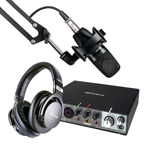 罗兰Rubix 24声卡搭配舒尔PGA27麦克风 K歌录音套装     录音编曲主推