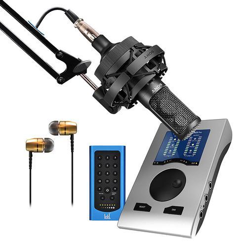 索尼C-100麦克风搭配 RME Babyface Pro声卡 电脑手机直播K歌声卡套装 快手抖音主播直播录音设备全套