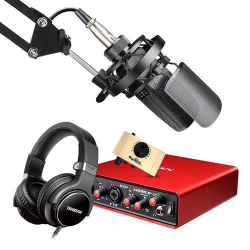得胜TAK55麦克风搭配艾肯MOBILE·U VST声卡  电脑手机直播K歌声卡套装 抖音快手主播直播录音设备全套