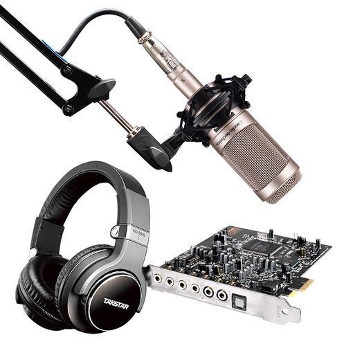 创新A5声卡搭配铁三角AT2035麦克风 网K套装