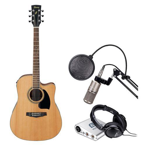 依班娜PF17ECE电箱吉他搭配MAYA22声卡 吉他网K套装