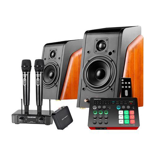 得胜MX1声卡搭配惠威M200MKIII+音箱  电脑手机K歌个人KTV套装