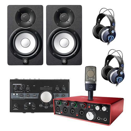 富克斯特 Scarlett 18i8 声卡搭配AKG C214麦克风  专业录音套装