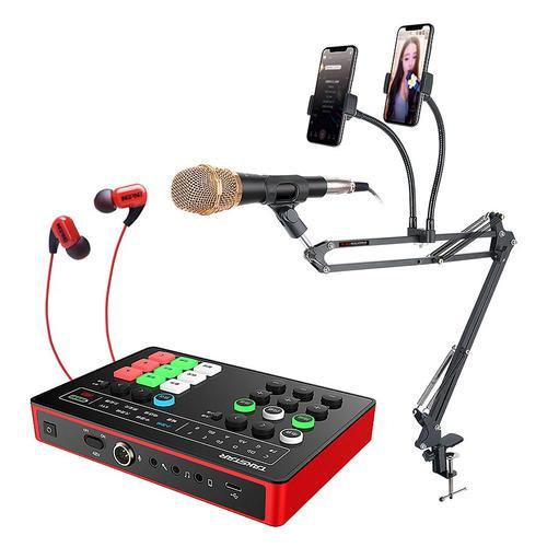 得胜MX1声卡搭配得胜PC-K120麦克风  手机K歌直播套装 抖音快手全民K歌唱歌设备全套