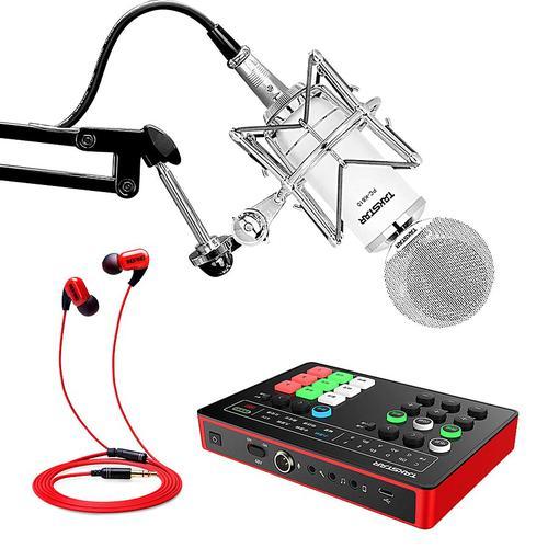 得胜MX1声卡搭配得胜PC-K810麦克风 电脑手机直播K歌声卡套装 抖音快手主播直播录音设备全套