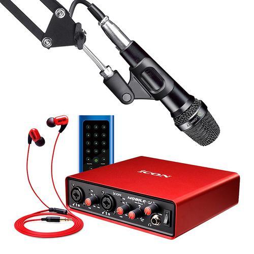 艾肯MOBILE·U VST声卡搭配莱维特 MTP LIVE麦克风   网K套装