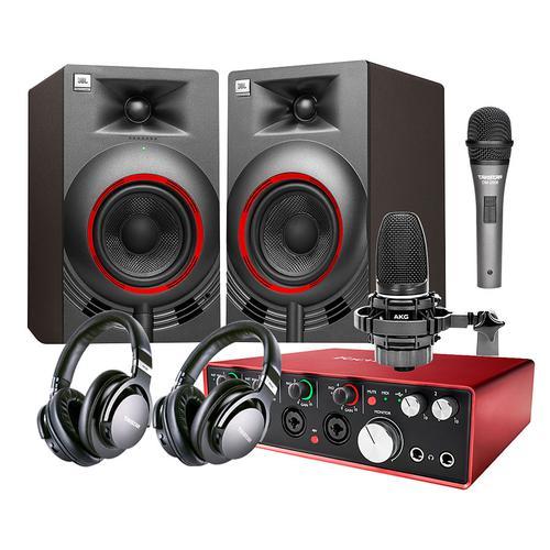 富克斯特 Scarlett 18i8声卡搭配AKG C3000 麦克风 录音套装