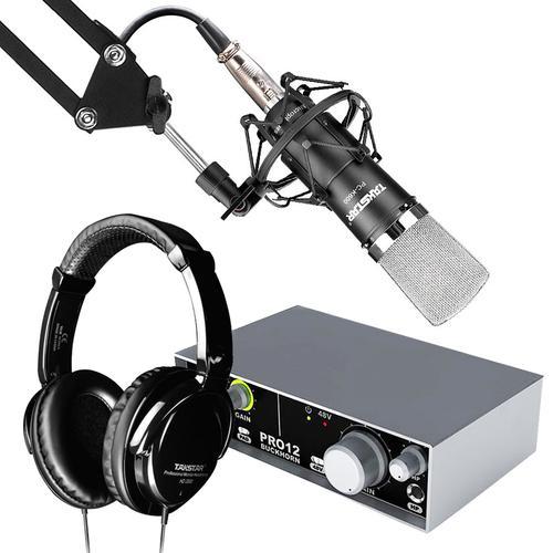 得胜K600麦克风搭配跳羚PRO12声卡  个人录音套装
