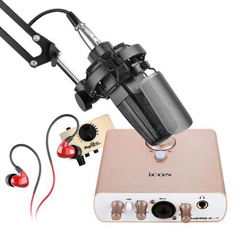 艾肯MOBILE·R VST声卡搭配得胜TAK35麦克风  电脑手机直播K歌声卡套装 抖音快手主播直播录音设备全套