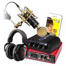 电容麦克风搭配声卡多平台直播套装