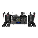 惠威VA4OS音响搭配得胜TC-TH会议VHF无线麦克风  无线网络会议套装进阶版