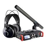 TASCAM DR-701D录音机搭配铁三角AT897麦克风   影视同期录音套装