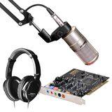 创新A4声卡搭配得胜K200麦克风  网K套装