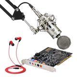 创新A4声卡搭配ISK BM-5000麦克风  网K套装