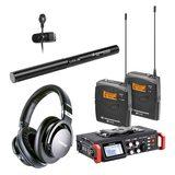 TASCAM DR-701D录音机搭配森海塞尔MKE600麦克风   影视同期录音套装