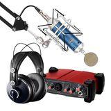 艾肯 Utrack VST外置声卡搭配BlueBird SL蓝鸟麦克风 网K套装
