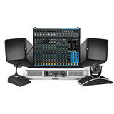JBL CONTROL HST音响搭配铁三角PRO49QL鹅颈麦克风   中型网络会议套装
