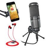 铁三角AT2020USB麦克风+红豆耳机 转安卓手机k歌套装