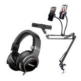 得胜PH130麦克风搭配得胜HD5800耳机 手机K歌直播套装 抖音快手全民K歌唱歌设备全套