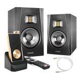 亚当T7V音箱搭配旷世QP2R播放器 (金色)    音乐欣赏套装
