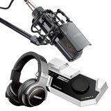 莱维特STREAM 4x5声卡(白色)搭配得胜PC-K850麦克风 电脑手机直播K歌声卡套装 抖音快手主播直播录音设备全套